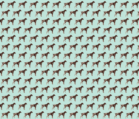 hunting_dog duck fabric by weebeastiecreations on Spoonflower - custom fabric