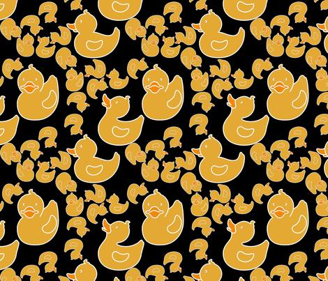 duckiesblack fabric by suziwollman on Spoonflower - custom fabric