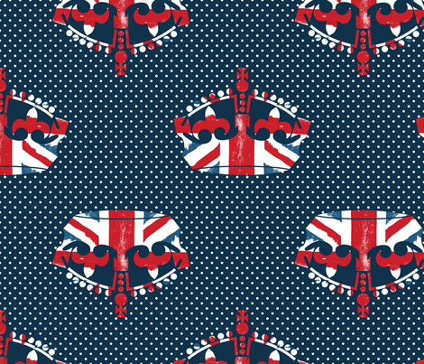 Diamond Jubilee 2 fabric by mgterry on Spoonflower - custom fabric