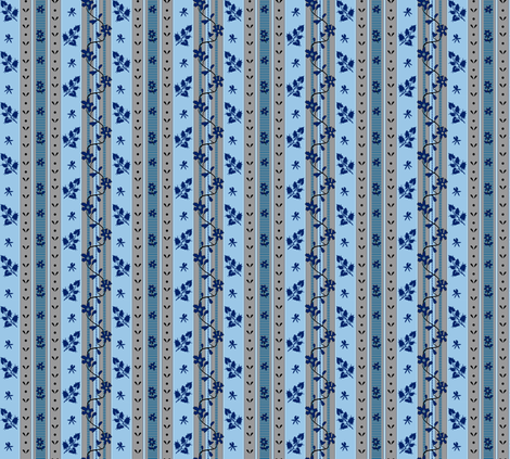 Fantine - Blue - Striped fabric by bonnie_phantasm on Spoonflower - custom fabric