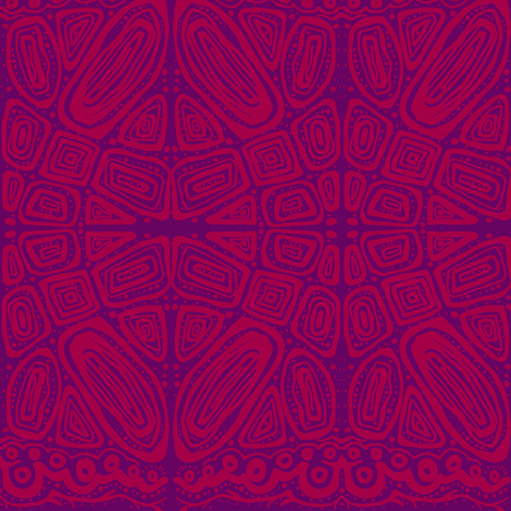 friends_2-purple & red fabric by kcs on Spoonflower - custom fabric