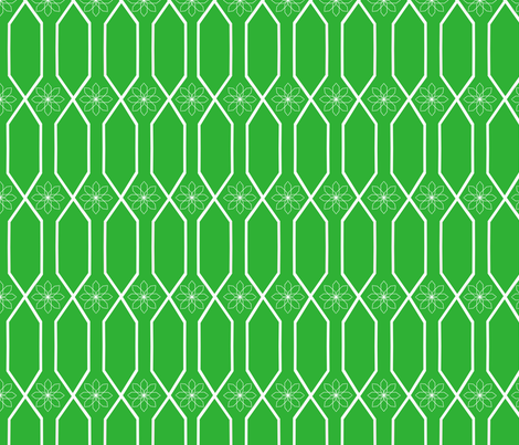 green_lattice fabric by bexcaliber on Spoonflower - custom fabric