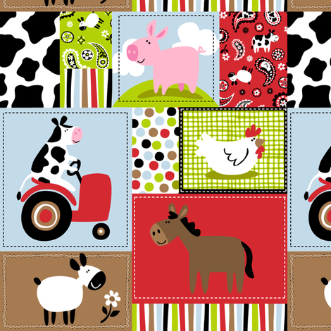 Farmtasia Patchwork fabric by bzbdesigner on Spoonflower - custom fabric
