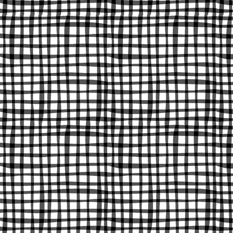Farmtasia Gingham Black fabric by bzbdesigner on Spoonflower - custom fabric