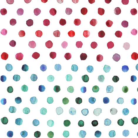 watercolor dots multi stripe fabric by katarina on Spoonflower - custom fabric