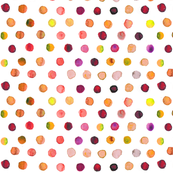 Indian summer watercolor dots
