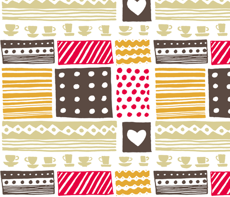retro_kitchen fabric by katja_saburova on Spoonflower - custom fabric