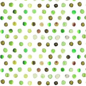 watercolor dots green