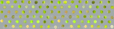 watercolor dots lime on grey