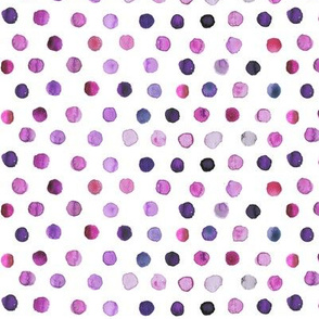 watercolor dots purple