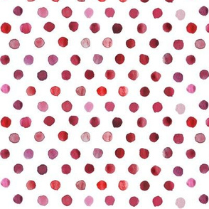 watercolor dots red