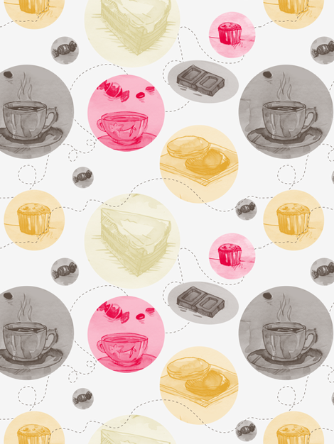 tea-time-01 fabric by katja_saburova on Spoonflower - custom fabric