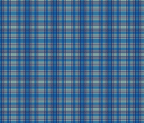Blue Lumberjack fabric by glanoramay on Spoonflower - custom fabric