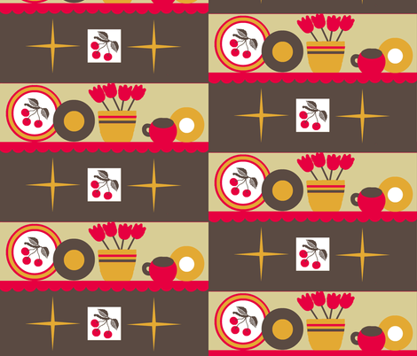 Cherry Kitschy /block fabric by paragonstudios on Spoonflower - custom fabric