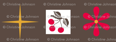 cherry retro/ flora