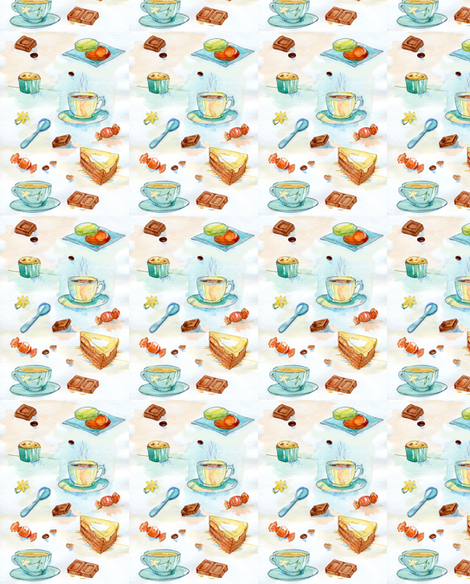 tea time 2 fabric by katja_saburova on Spoonflower - custom fabric