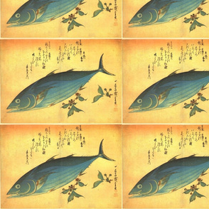 Katsuo - Hiroshige's Colorful Japanese Fish Print