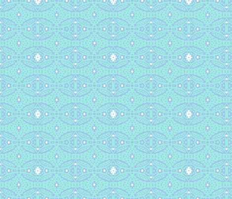 Dotty Ditsy Daisy Design (sky & aqua) fabric by pattyryboltdesigns on Spoonflower - custom fabric