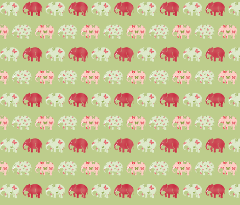 Butterfly Elephant Herd fabric by mandollyn on Spoonflower - custom fabric