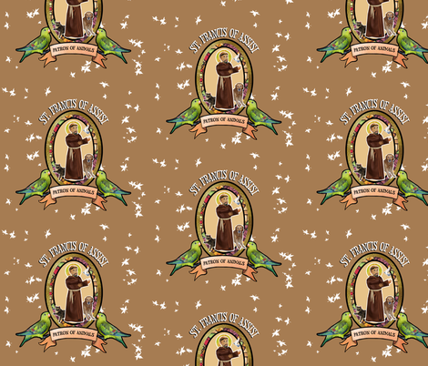 St. Francis, Patron saint of animals fabric by littleliteraryclassics on Spoonflower - custom fabric