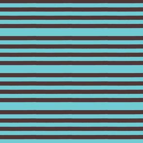 Turquoise Irregular Stripe