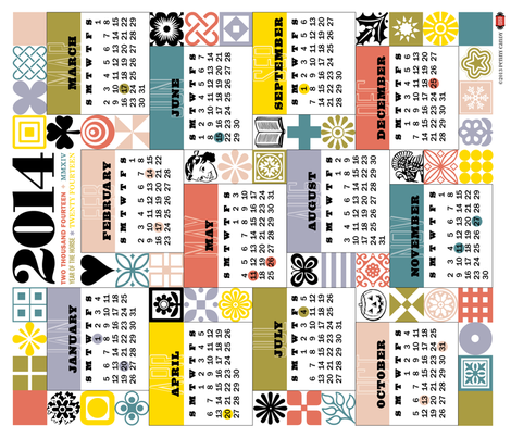 Sewing for All Seasons Calendar fabric by pennycandy on Spoonflower - custom fabric