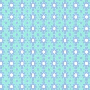 Dotty Ditsy Daisy (Sky &amp; aqua)