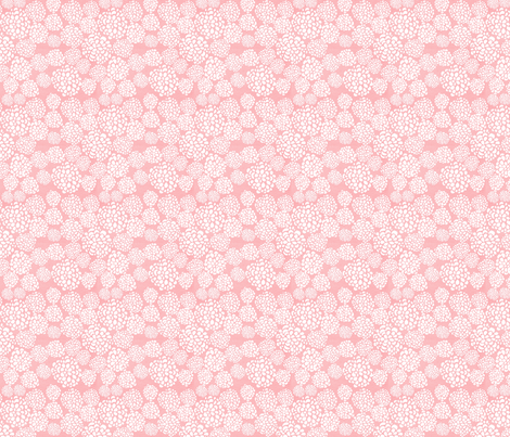 Pink Dahlias fabric by joylaforme on Spoonflower - custom fabric