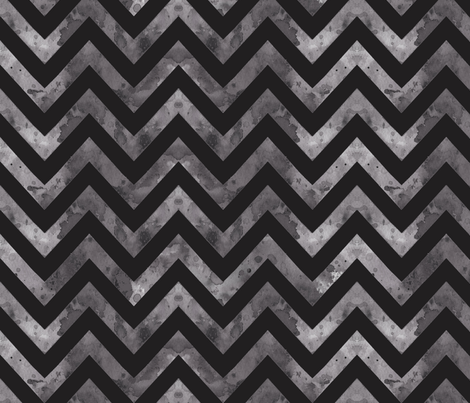 watercolor chevron grey black