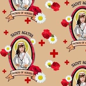 St. Agatha's Nursing Scrubs