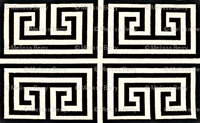 Greek Key-Black