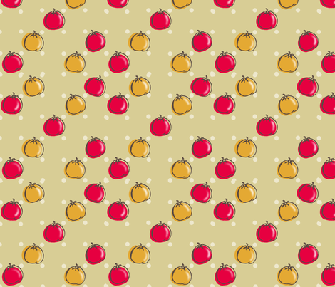 tomatoes fabric by moon_&_magic on Spoonflower - custom fabric