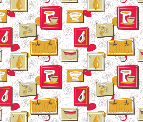 RetroKitchen2 fabric by shannonkornis on Spoonflower - custom fabric
