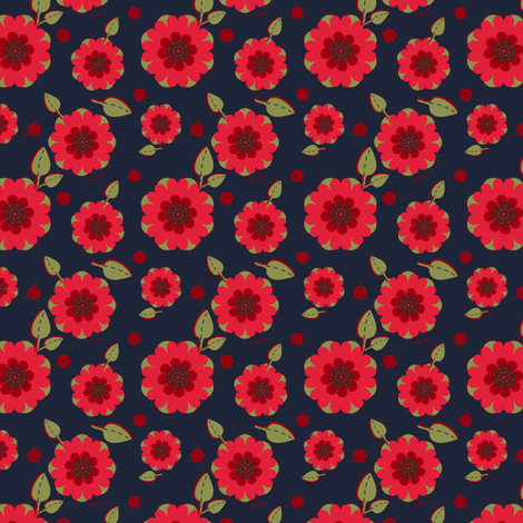 Red Red Poppies fabric by eppiepeppercorn on Spoonflower - custom fabric