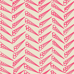 Herringbone 2 Tropical Pink