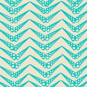 Herringbone 3 Ocean Aqua
