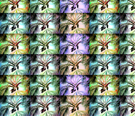 Palm Tree Collage fabric by leahvanlutz on Spoonflower - custom fabric