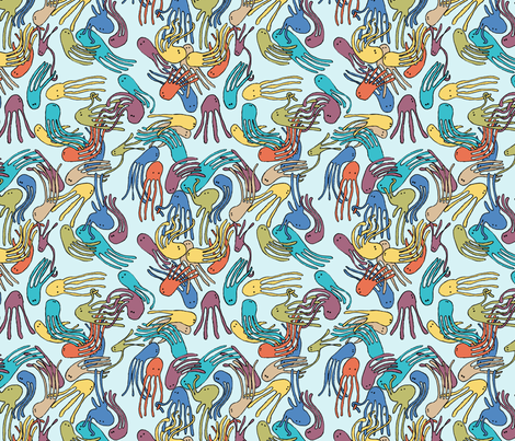 octoparty fabric by petitevitesse on Spoonflower - custom fabric