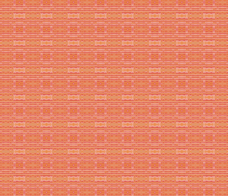 Peach Apricot Mango Wavy Stripe © Gingezel™ 2012 fabric by gingezel on Spoonflower - custom fabric