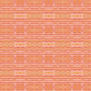 Peach Apricot Mango Wavy Stripe © Gingezel™ 2012