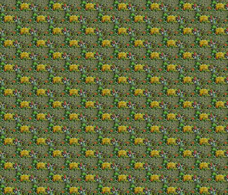 Daffodils fabric by leahvanlutz on Spoonflower - custom fabric