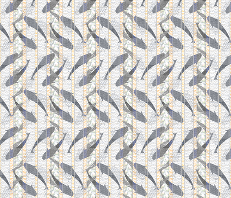 fishstripe2 fabric by glimmericks on Spoonflower - custom fabric