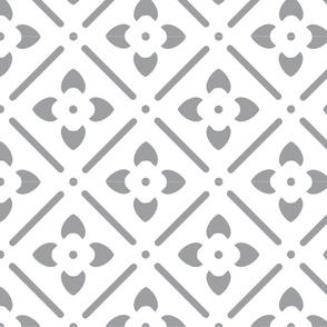 Flower Medallion-gray