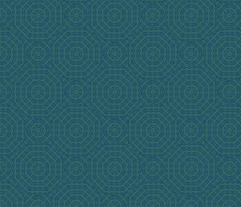 scallop_bluegreen fabric by glimmericks on Spoonflower - custom fabric