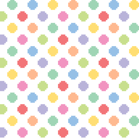 Pixelated multicolored dots fabric by petitspixels on Spoonflower - custom fabric