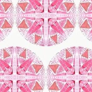 pink white star