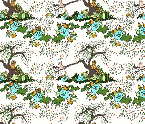 Jungle Monkey Vine fabric by leahvanlutz on Spoonflower - custom fabric