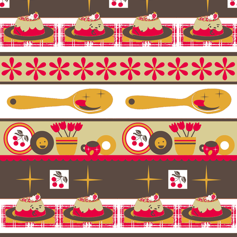 Cherry Kitschy/ kawaii fabric by paragonstudios on Spoonflower - custom fabric