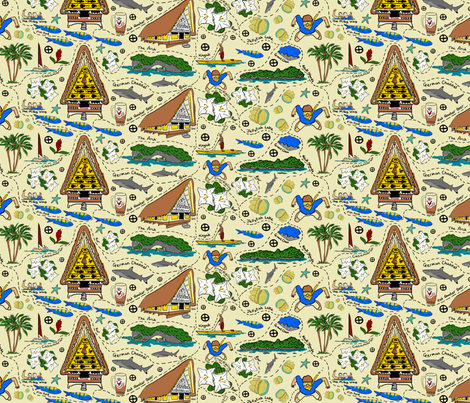 Palau (my favourite bits) fabric by lusyspoon on Spoonflower - custom fabric