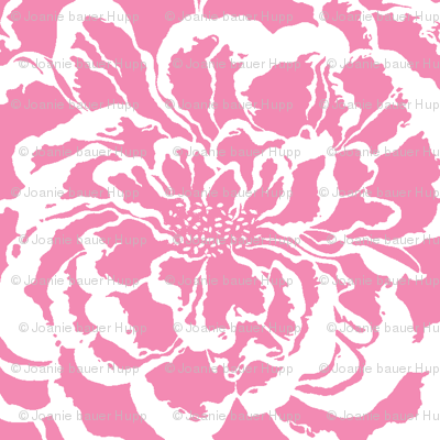 BAUER - Pink Peony on White